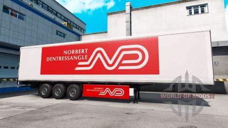 Norbert Dentressangle de la peau pour une remorq pour American Truck Simulator