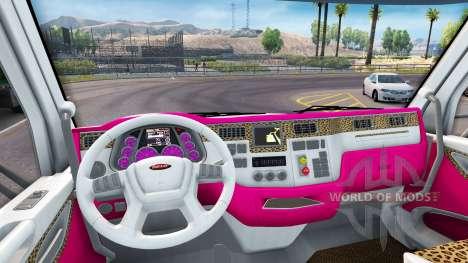 La peau de la Fille de l'Édition Peterbilt tract pour American Truck Simulator