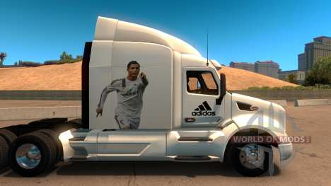 Peterbilt 579 Real Madrid Skin pour American Truck Simulator