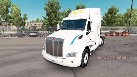 Haut Wallmart für LKW Peterbilt für American Truck Simulator