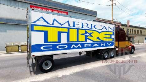 Haut amerikanischen Reifen auf dem Anhänger für American Truck Simulator