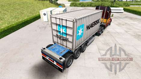 Semi-navire porte-conteneurs Maersk pour American Truck Simulator