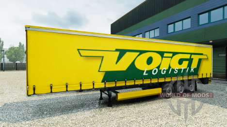Voigt Logistique skin v1.2 on the trailer pour Euro Truck Simulator 2