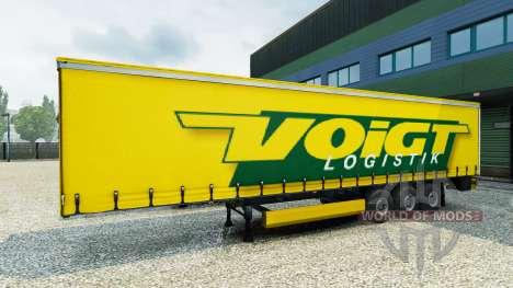 Voigt Logistik skin v1.2 on the trailer für Euro Truck Simulator 2