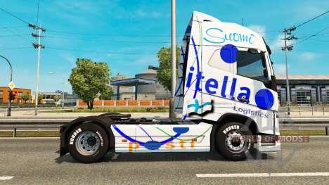 Itella de la peau pour Volvo camion pour Euro Truck Simulator 2