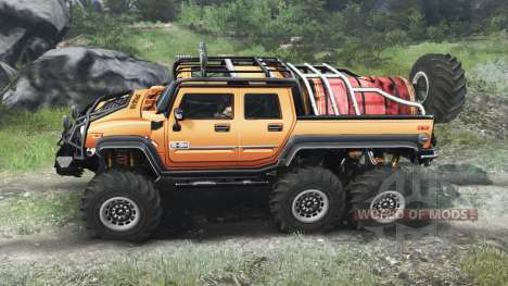 Hummer H2 6x6 [03.03.16] pour Spin Tires