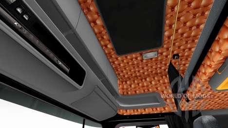 Schwarz und orange Innenraum für Scania für Euro Truck Simulator 2