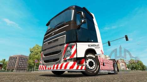 Schwerlast Transport skin for Volvo truck für Euro Truck Simulator 2