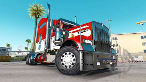 La peau de l'Armée sur le camion Kenworth W900 pour American Truck Simulator
