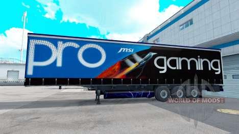 MSI peau sur la remorque pour American Truck Simulator