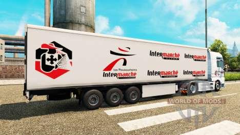 La peau Intermarché sur tracteur HOMME pour Euro Truck Simulator 2