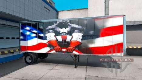Haut-Super-Helden auf dem Auflieger für American Truck Simulator