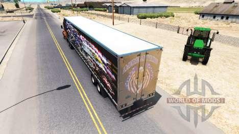 La peau de l'orgueil Américain sur la remorque pour American Truck Simulator