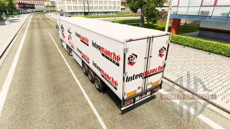Intermarché de la peau pour DAF camion pour Euro Truck Simulator 2