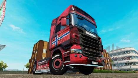 La norvège peau pour Scania camion pour Euro Truck Simulator 2