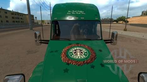 Kenworth T680 Starbucks Skin für American Truck Simulator