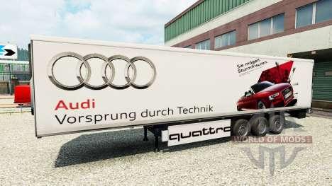 La peau Audi dans la remorque pour Euro Truck Simulator 2