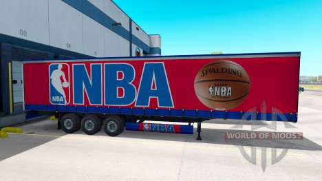 La peau de la NBA sur la remorque pour American Truck Simulator