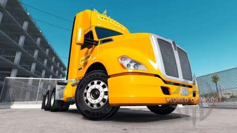 Haut Gelb Corp. auf dem truck Kenworth für American Truck Simulator