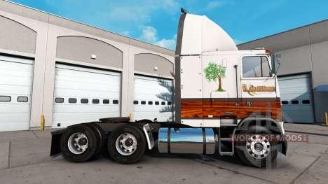 Haut Holz-Shop für eine Zugmaschine Freightliner für American Truck Simulator