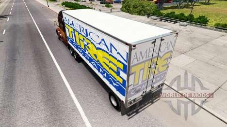 La peau de l'Amérique du Pneu sur la remorque pour American Truck Simulator