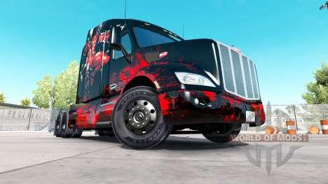 Deadpool skin für den truck Peterbilt für American Truck Simulator
