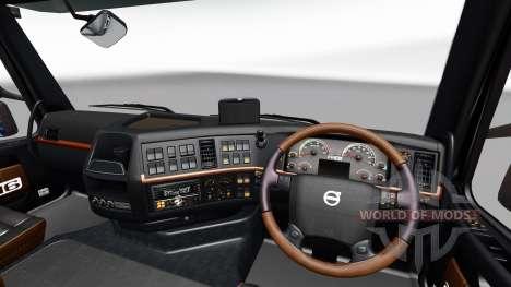 Noir et marron-intérieur de la Volvo pour Euro Truck Simulator 2