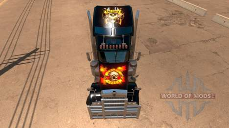 Kenworth W900 Guns and Roses Skin pour American Truck Simulator