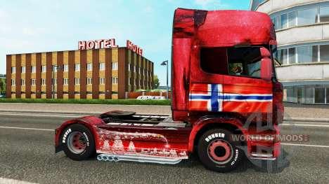 Norwegen skin für Scania-LKW für Euro Truck Simulator 2