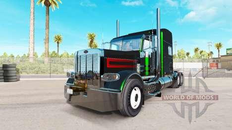 La peau est Noir Bandes Métalliques sur le Peter pour American Truck Simulator