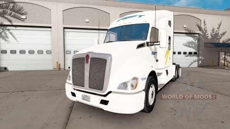 Swift skin für die Kenworth-Zugmaschine für American Truck Simulator