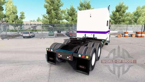 Haut, Weiß und Lila für den truck-Peterbilt 389 für American Truck Simulator