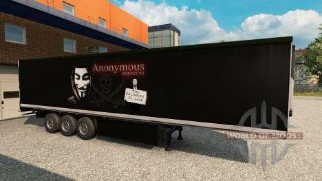 Haut Top Secret StandAlone auf dem Anhänger für Euro Truck Simulator 2