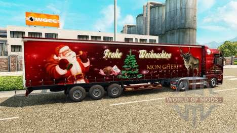 Weihnachts-skin für MAN-LKW für Euro Truck Simulator 2