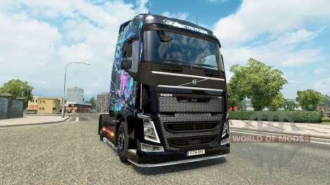 Mal des Yeux la peau pour Volvo camion pour Euro Truck Simulator 2