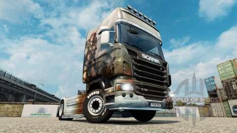 Haut Guild Wars 2 Norn auf der Zugmaschine Scani für Euro Truck Simulator 2
