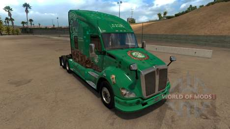 Kenworth T680 Starbucks Skin pour American Truck Simulator