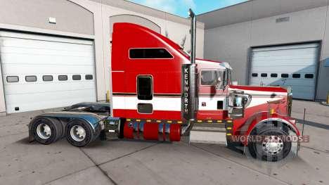 Haut Rot auf der LKW-Kenworth W900 für American Truck Simulator