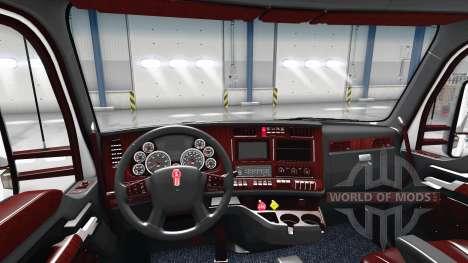 Die Deluxe black interior Kenworth T680 für American Truck Simulator