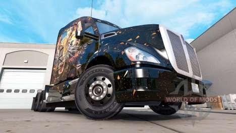 Peau de tigre pour Peterbilt et Kenworth camions pour American Truck Simulator
