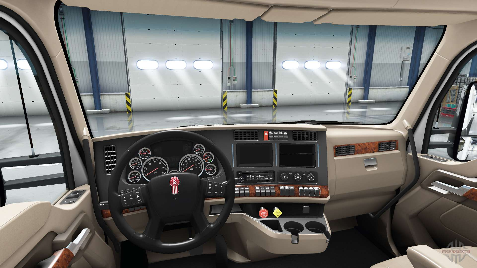 Neu Gestaltete Interieur Des Kenworth T680 Fur American Truck Simulator