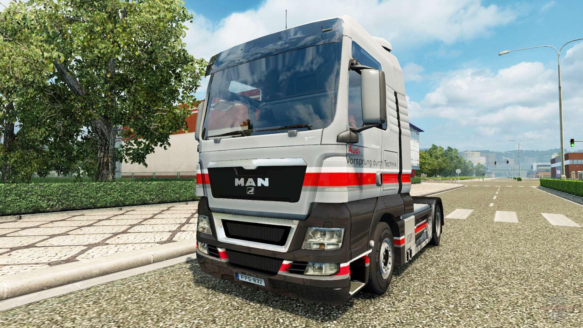 audi skin f r man lkw f r euro truck simulator 2. Black Bedroom Furniture Sets. Home Design Ideas
