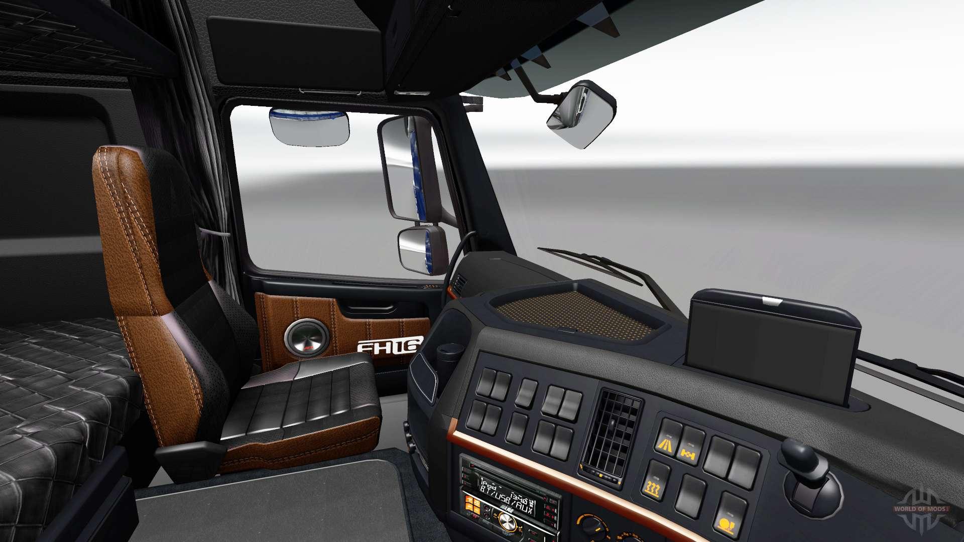 Noir et marron-intérieur de la Volvo pour Euro Truck ...