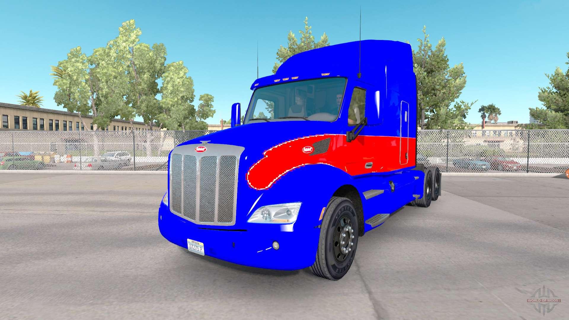 le rouge et le bleu de la peau pour le camion peterbilt pour american truck simulator. Black Bedroom Furniture Sets. Home Design Ideas