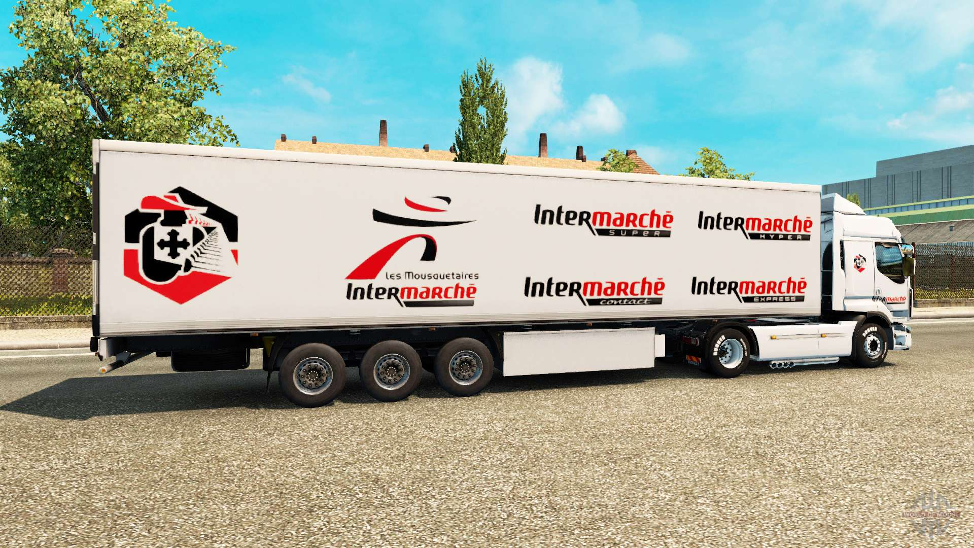 intermarch de la peau pour renault camion pour euro truck simulator 2. Black Bedroom Furniture Sets. Home Design Ideas