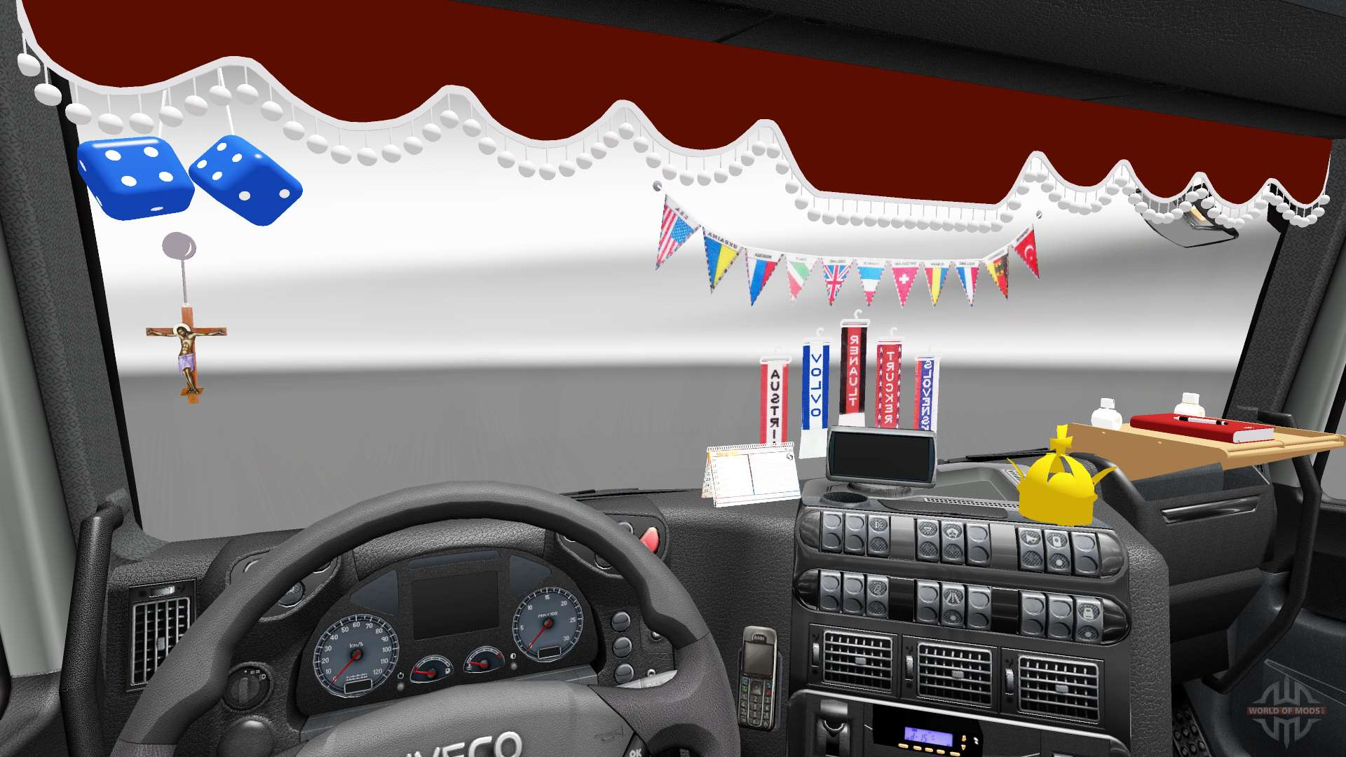das neue interieur ist von iveco lkw f r euro truck. Black Bedroom Furniture Sets. Home Design Ideas