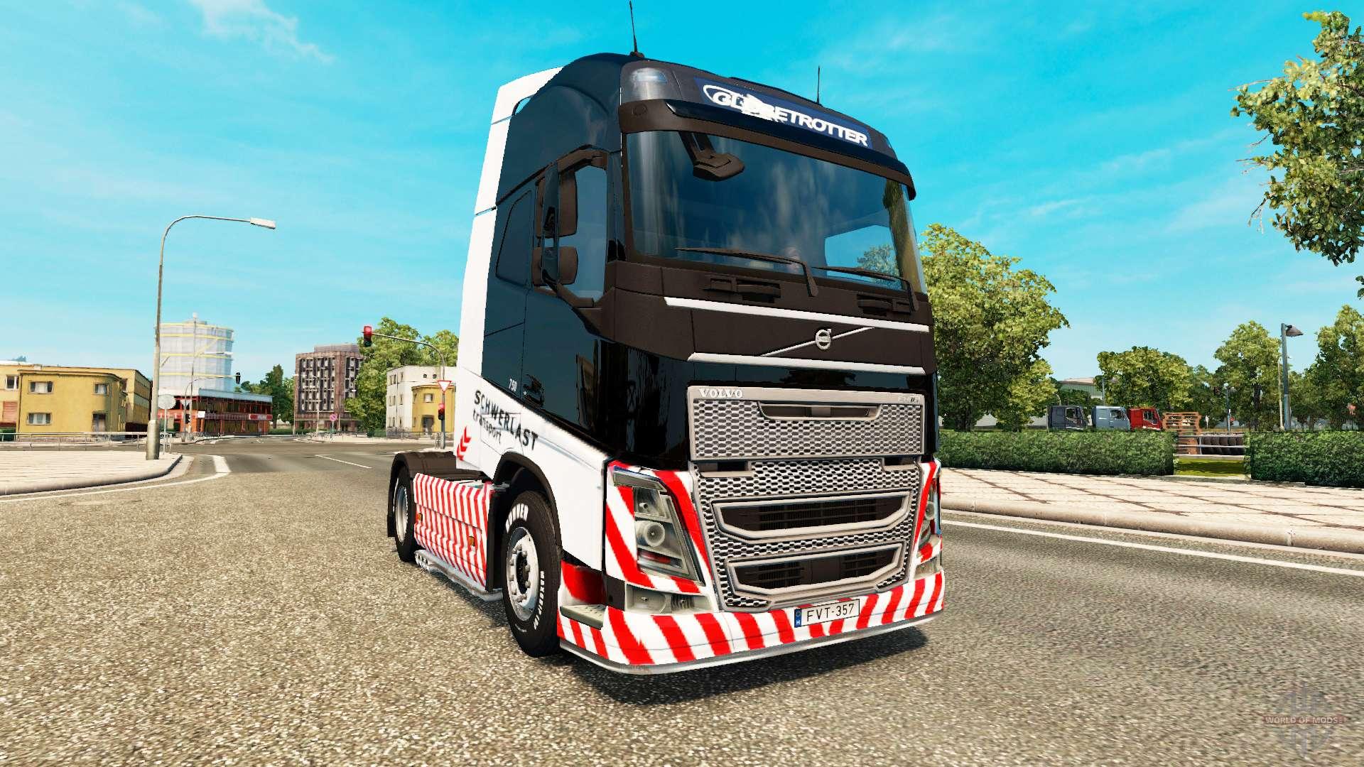 schwerlast transport skin for volvo truck f r euro truck. Black Bedroom Furniture Sets. Home Design Ideas