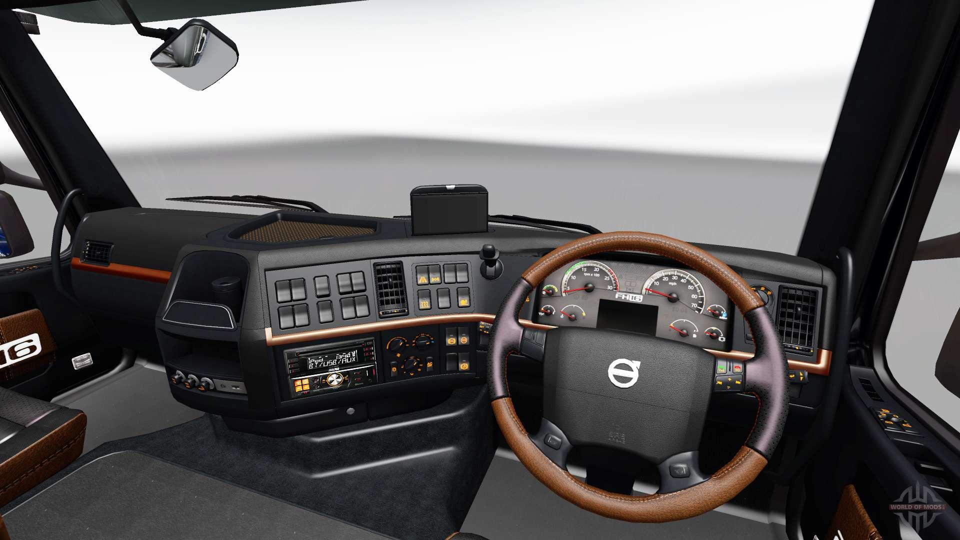 Noir et marron int rieur de la volvo pour euro truck for Renault gamme t interieur