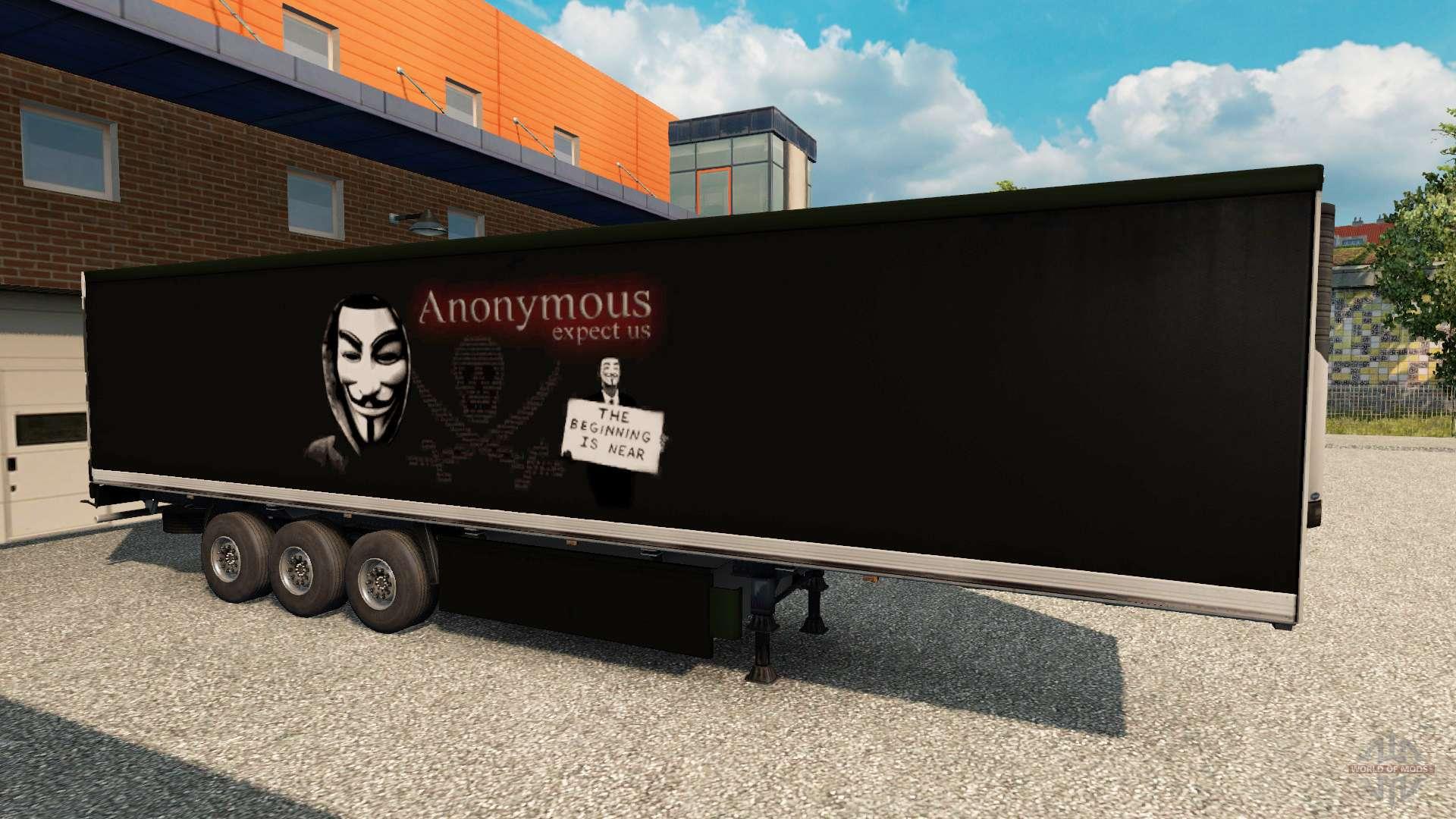 haut top secret standalone auf dem anh nger f r euro truck simulator 2. Black Bedroom Furniture Sets. Home Design Ideas