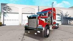 Peau Rouge sur le camion Kenworth W900